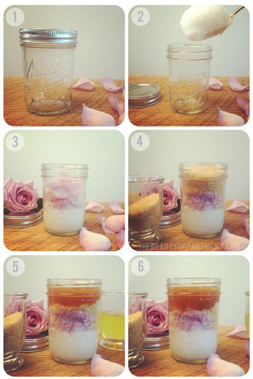 DIY COCONUT + ROSE BODY SCRUB