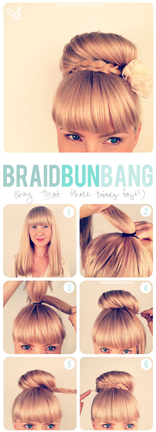 The Beauty Department Your Daily Dose Of Pretty Updo Bangs