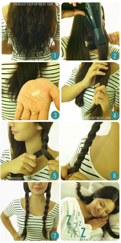 Как сделать кудрявые волосы при помощи косичек