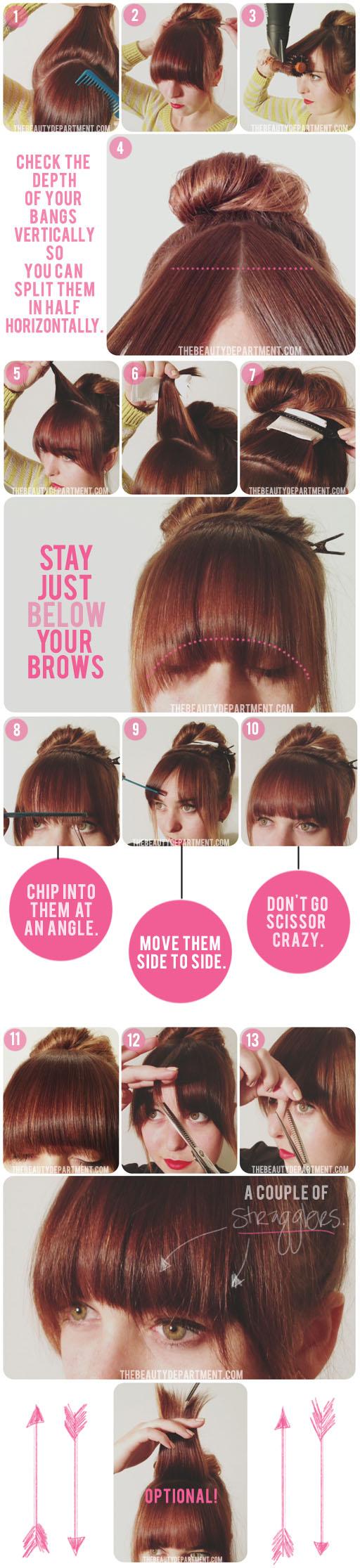Как сделать челку не подстригая ее