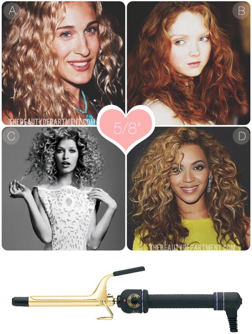 WHAT DOES EACH CURLING IRON DO?