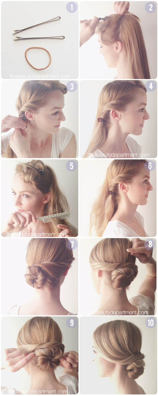 A CHIGNON FOR A FASCINATOR