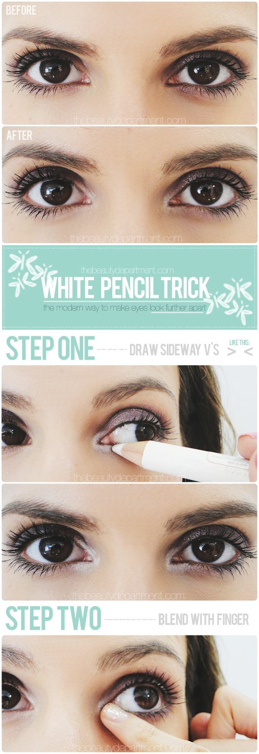 thebeautydepartment.com white pencil trick
