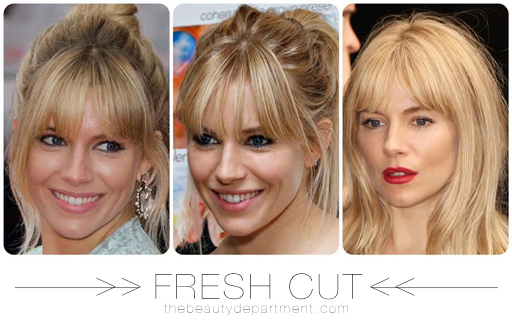 The Beauty Department Your Daily Dose Of Pretty Growing Out Bangs