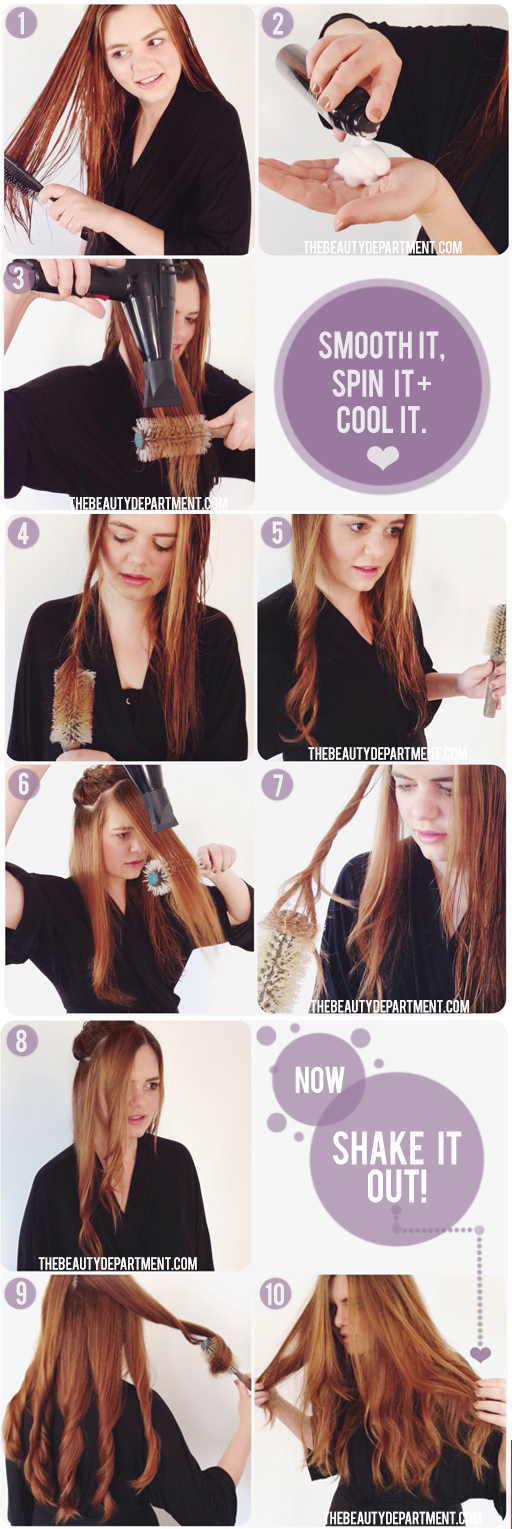 The Beauty Department Your Daily Dose Of Pretty Round Brush Waves