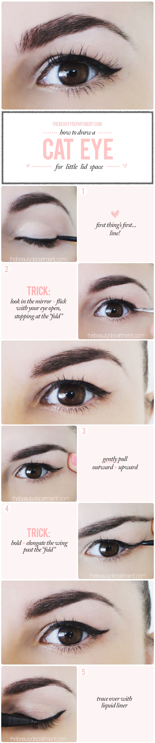 The beauty department your daily dose of pretty winged liner for winged liner for a droopy lid tutorial baditri Image collections