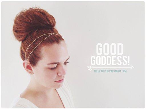 goddess bun tutorial the beauty department