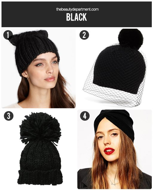 the beauty department black beanies