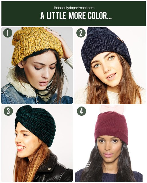 the beauty department colored beanies