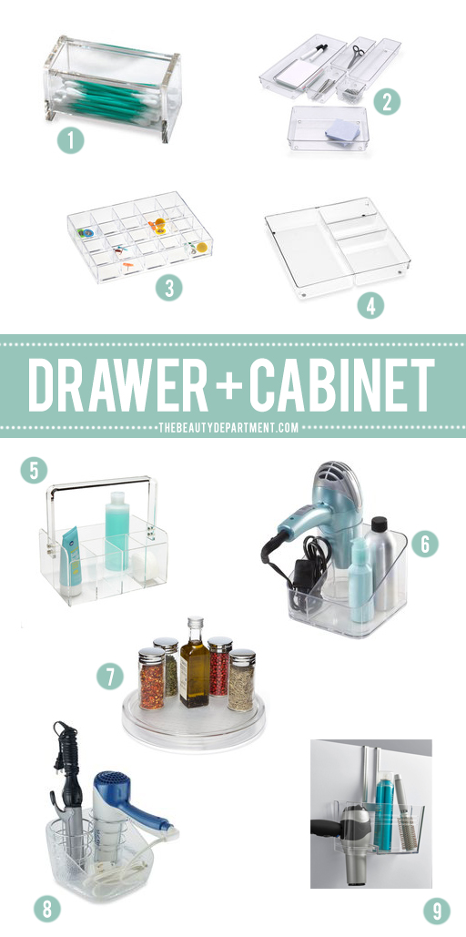 drawer and cabinet organization the beauty department