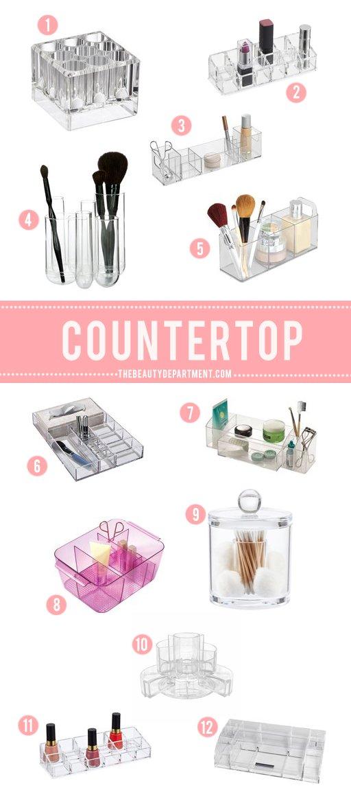 countertop bathroom storage the beauty department