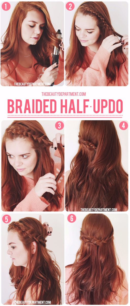 The Beauty Department Your Daily Dose Of Pretty Braided Half Updo