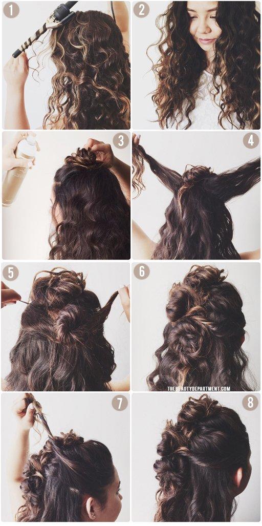 carols daughter monoi repair hairspray triple bun tutorial