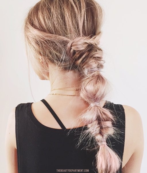pink champagne fishtail bubble braid department