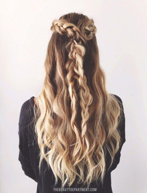 2 braids 3 ways ONE