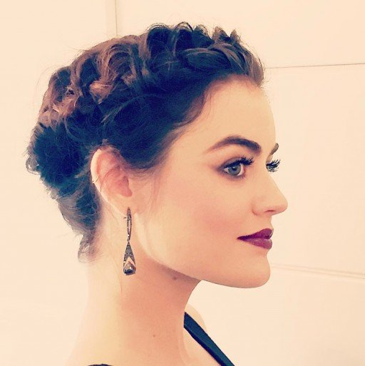 lucy hale people's choice hair updo