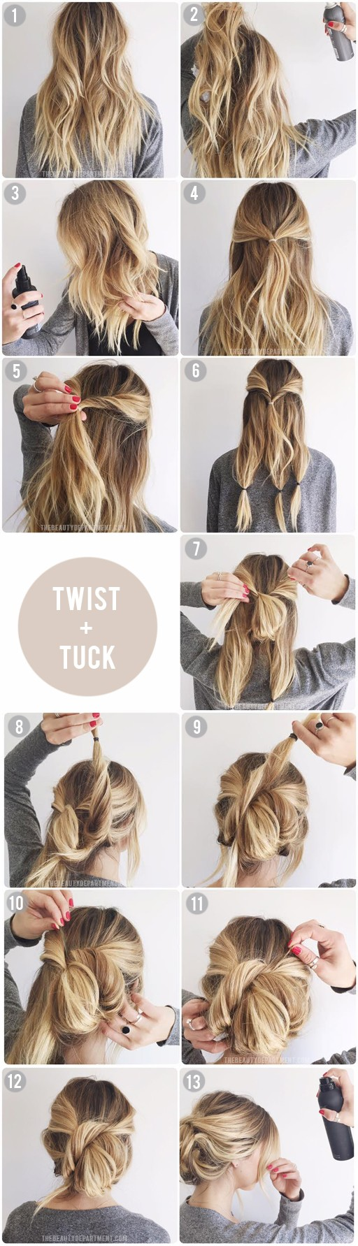 the beauty department easiest updo ever tutorial hair