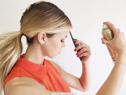 thebeautydepartment hair tutorial airspray