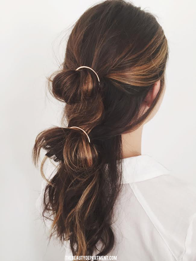 ... Department: Your Daily Dose of Pretty. - CIRCLE BARRETTE // STYLE IDEA