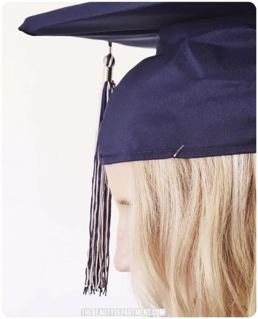 graduation cap hair trick bobbypin