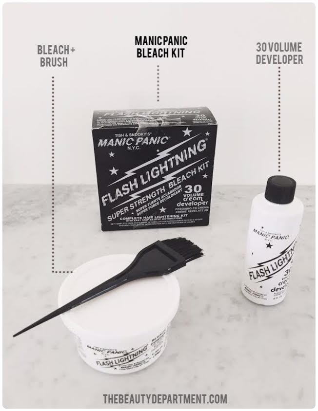 The beauty department your daily dose of pretty at home highlights manic panic bleach kit the beauty department solutioingenieria Image collections