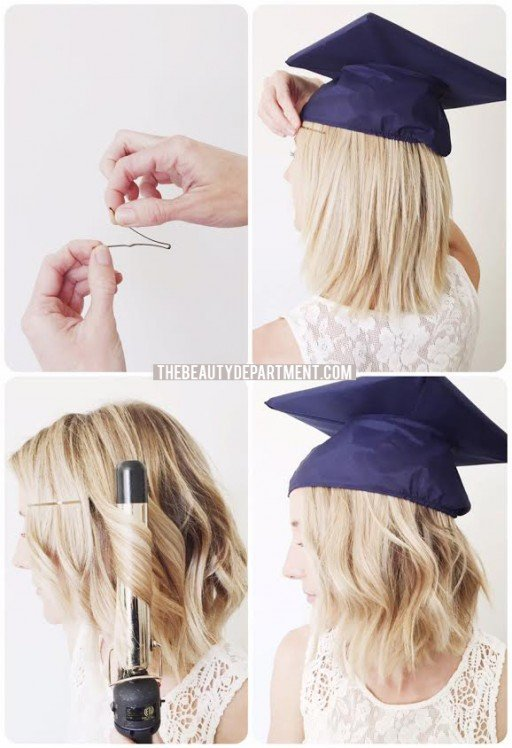 graduation hair cap hack