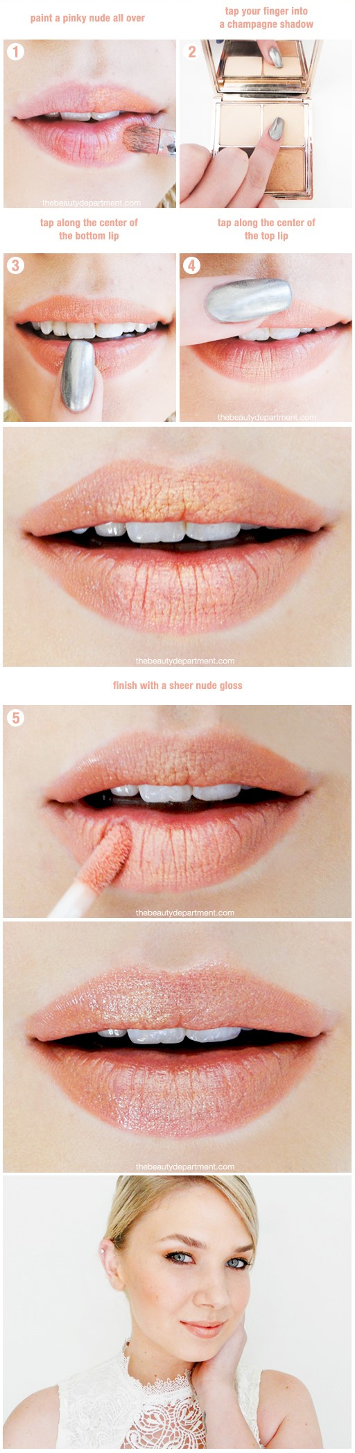 tbd rose gold lip sitchSTEPS