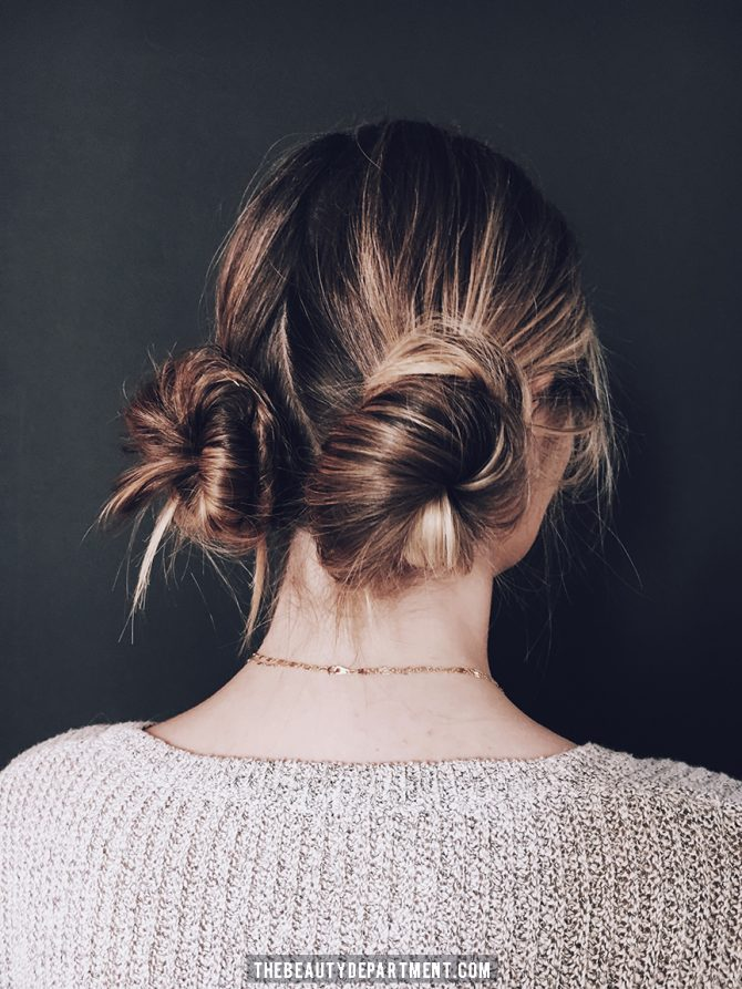 The Beauty Department Your Daily Dose Of Pretty 2 Messy Buns In
