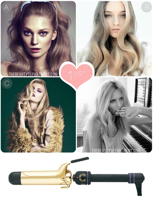 The Beauty Department Your Daily Dose Of Pretty What Does Each Curling Iron Do