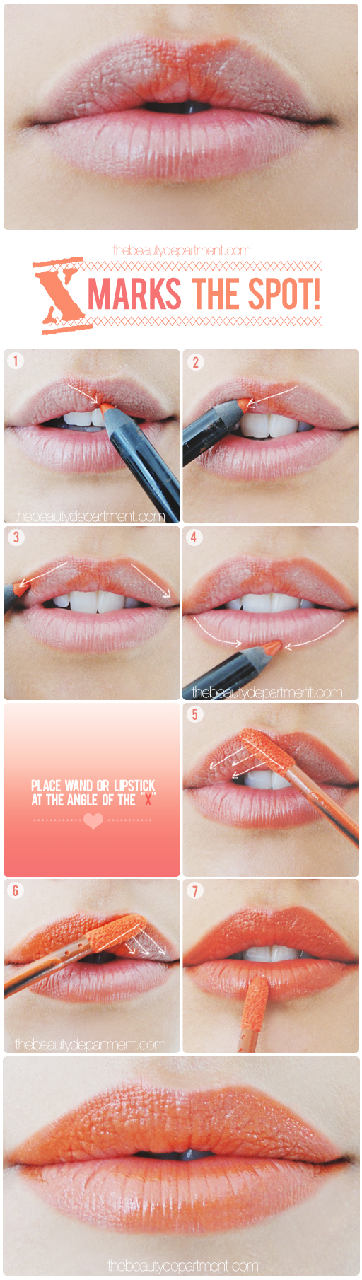 The Beauty Department: Your Daily Dose of Pretty. - A LITTLE LIP TRICK