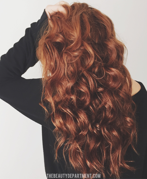 air drying for curling hair via thebeautydepartment