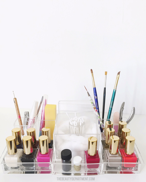 NAIL POLISH ORGANIZER THE BEAUTY DEPARTMENT
