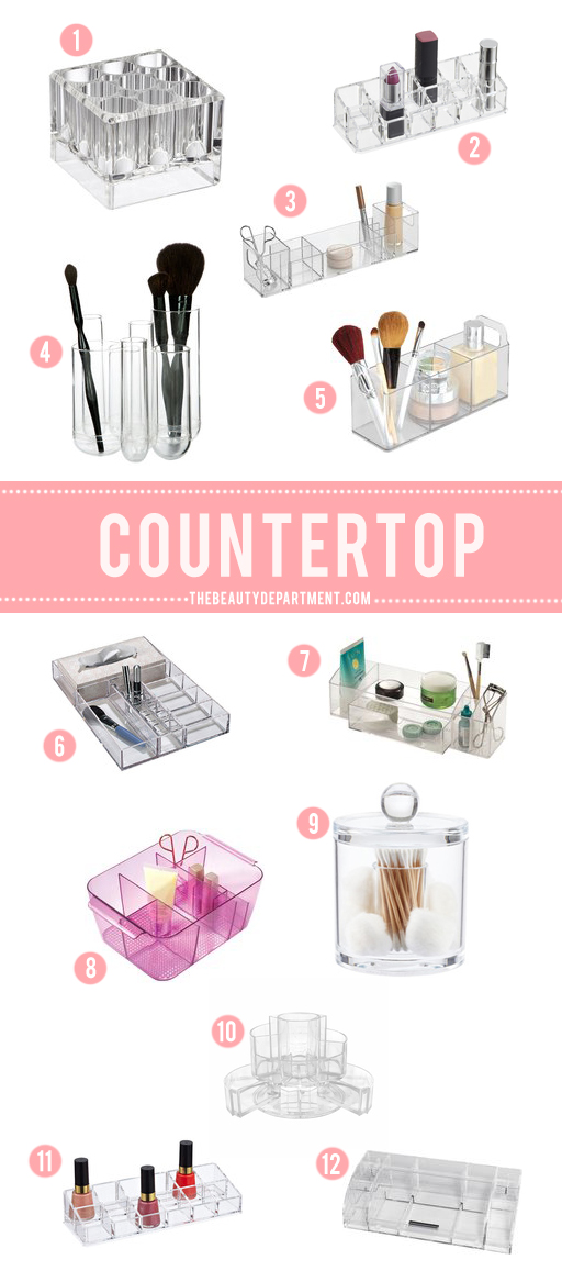 countertop bathroom storage the beauty department