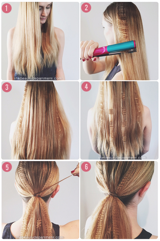 CRIMPED HAIR PONYTAIL TUTORIAL