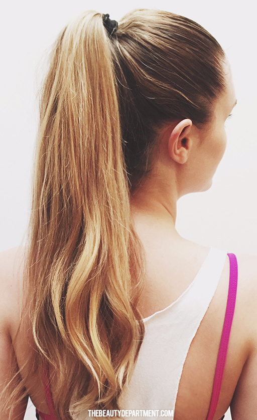 post workout ponytail the beauty dept