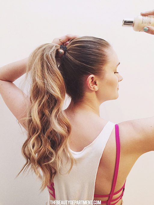 workout ponytail the beauty department