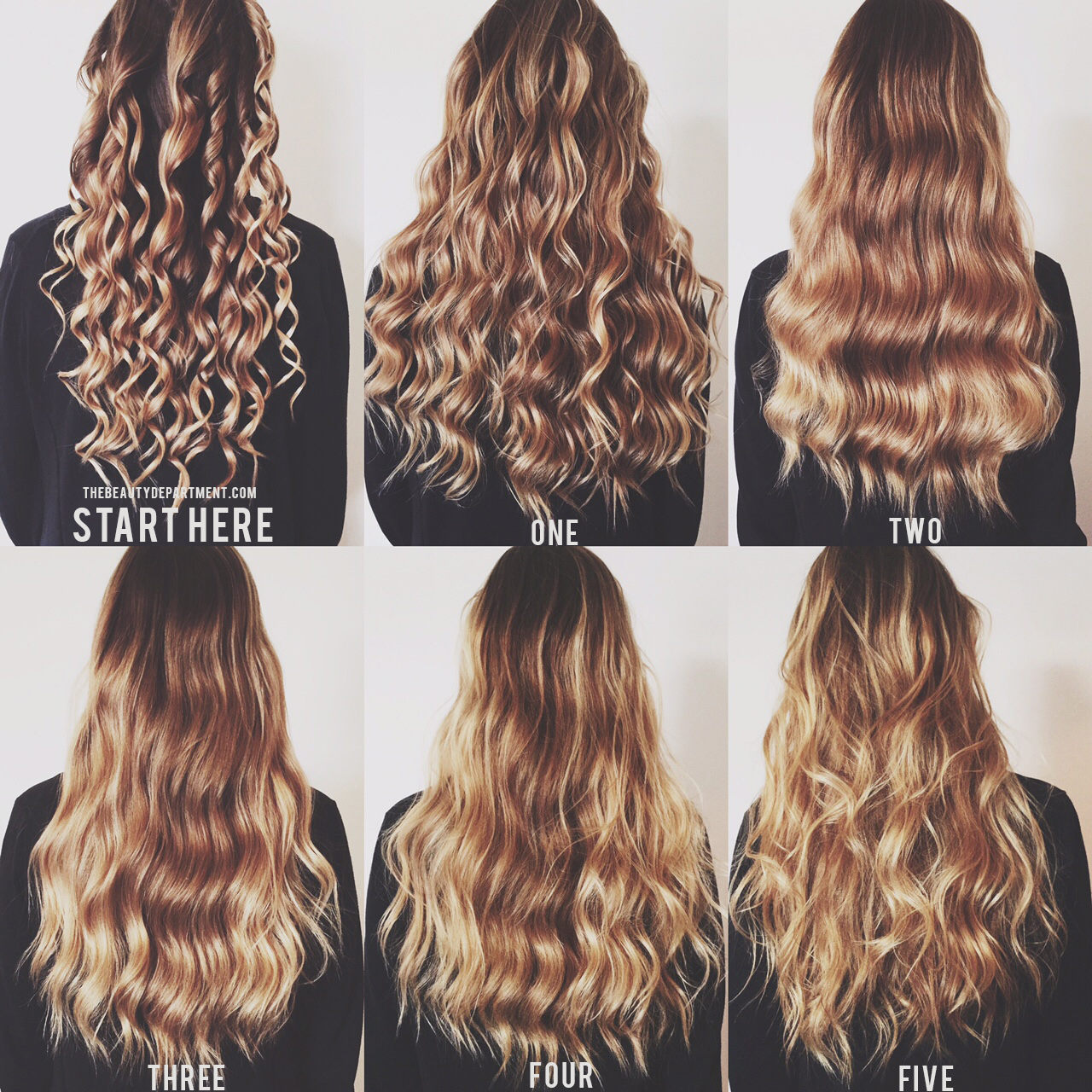 Different ways to curl hair with wand