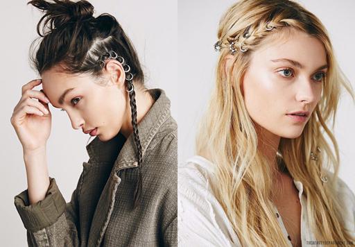hair earrings hair piercings the beauty department free people