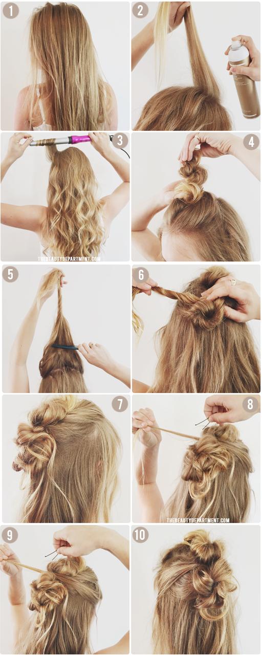 carols daughter monoi repair hairpspray x the beauty department triple bun