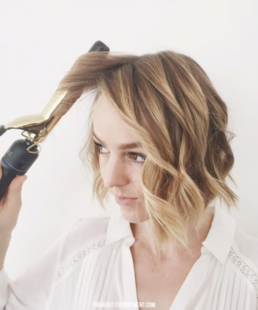 The Beauty Department Your Daily Dose Of Pretty Flat Iron Wave Trick