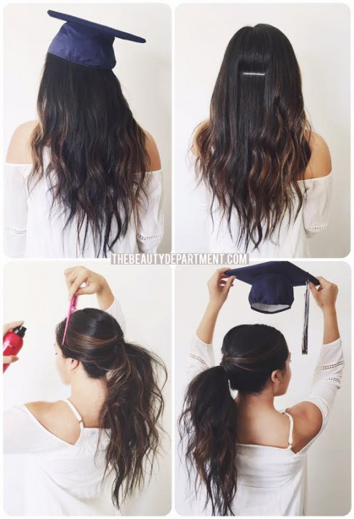 the beauty department graduation hair