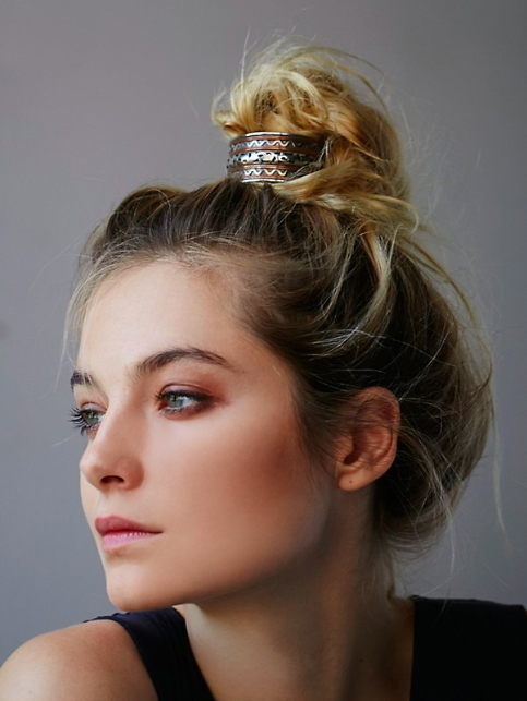 bun cuff accessory summer hair the beauty department