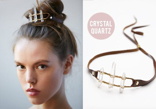 free people bun cuff crystal quartz take flight