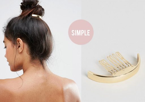 gold bun cuff hair accessory