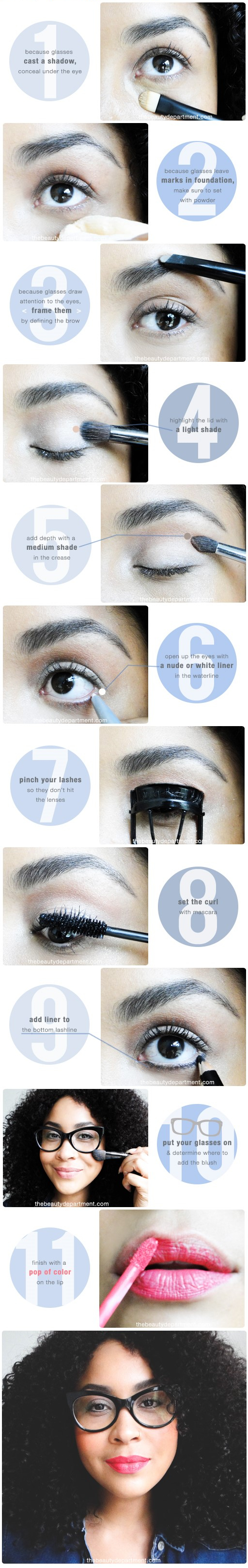 tbd makeup for glassesSTEPS
