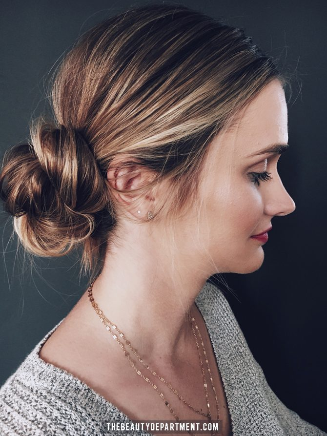 messy hair bun styles hair photos by kristin ess 5220 | x2 QUICK MESSY BUN STYLES THE BEAUTY DEPARTMENT 670x893.jpg.pagespeed.ic.eXCH1150 y